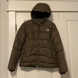 North Face down jacket in Olive
